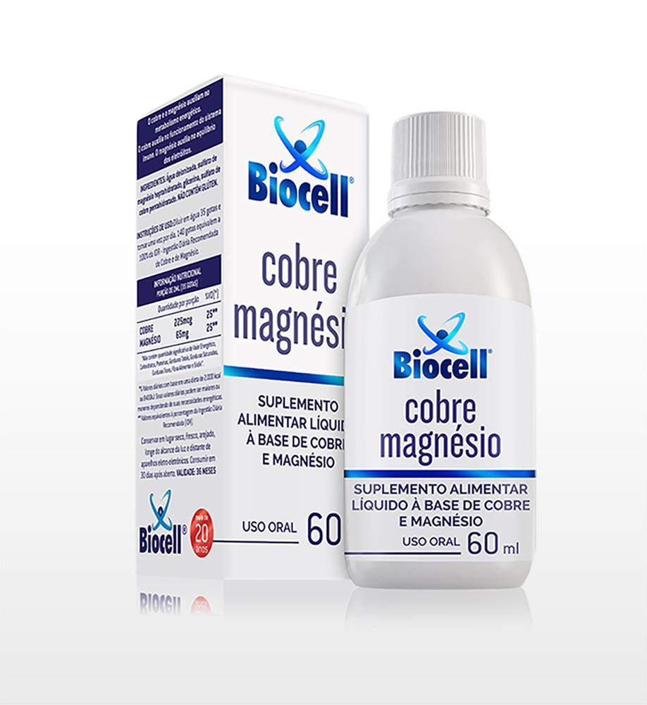 Cobre Magnésio - Suplemento Alimentar Líquido Sublingual 60 ml