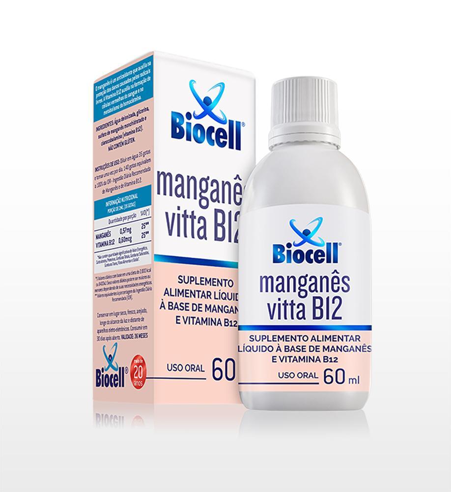 Manganês Vitta B12 - Suplemento Alimentar Líquido