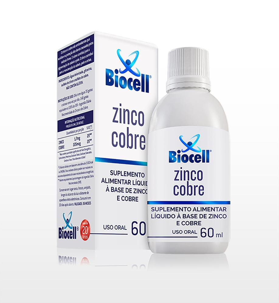 Zinco Cobre - Suplemento Alimentar Líquido Sublingual 60 ml