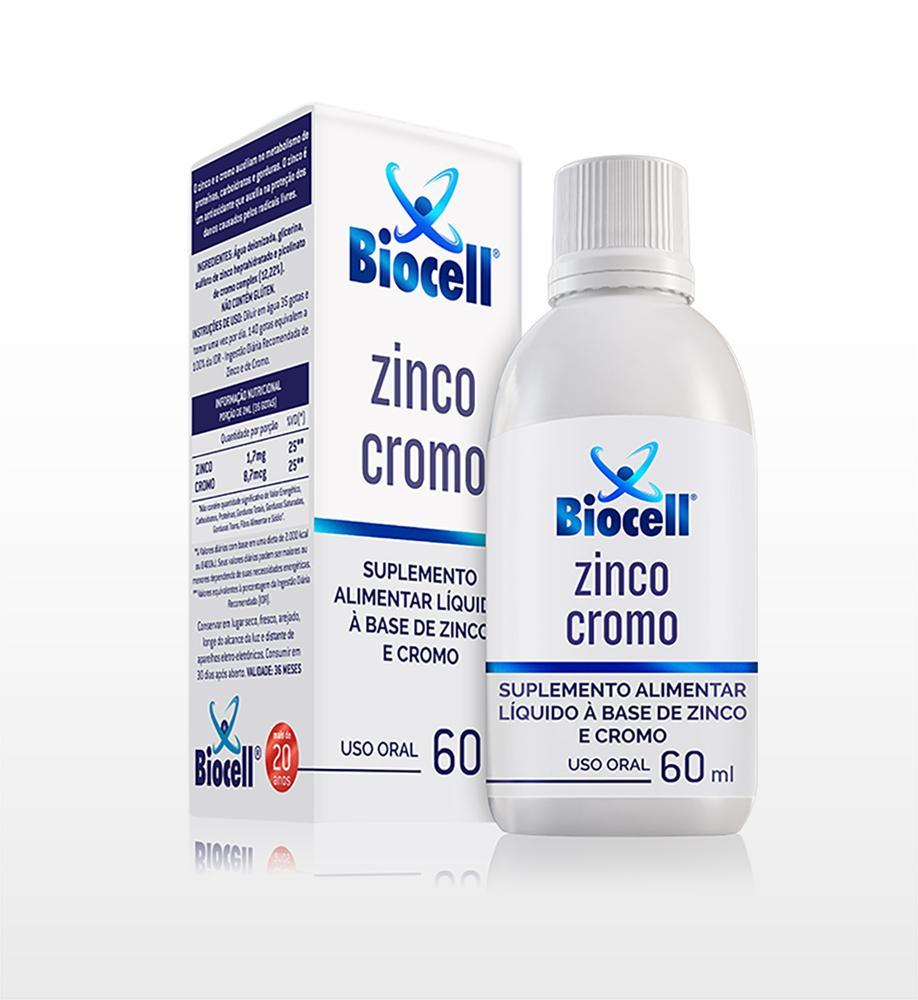 Zinco Cromo - Suplemento Alimentar Líquido Sublingual 60 ml
