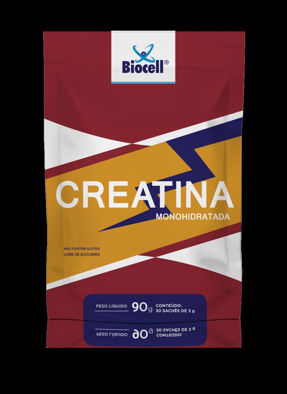 Creatina Monohidratada - Suplemento Alimentar em Pó 30 sachês de 3 g